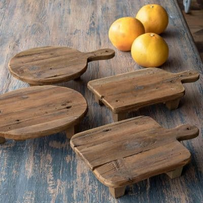 Wood Cutting Board Risers, Set of 4